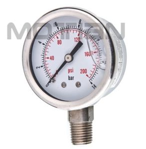 2 Inch Glycerin Silicon Liquid Oil Filled All Ss Pressure Gauge pictures & photos