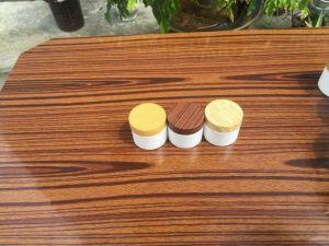 Plastic Wooden Cream Jar Packaging, Plastic Wooden Jar pictures & photos