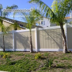 Taupe Vinyl Fence/Special Color PVC Fence pictures & photos