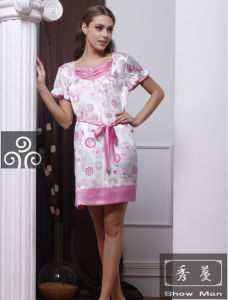 Sexy Ladies Silk Pajamas/ Sleepwear/Dress (QX-5S23)