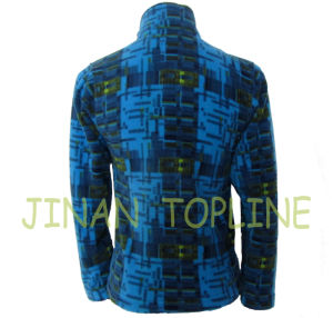 Long Sleeve Printed Microfleece Jacket pictures & photos