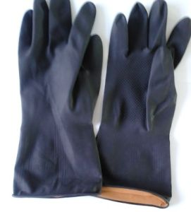 Duty Double Color Latex Industrial Glove pictures & photos