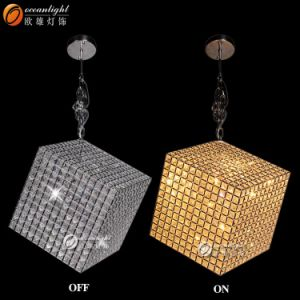 Iron Chandelier Modern Crystal Pendant Lamp, Crystal Lamp (OM55003) pictures & photos