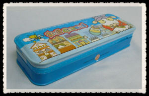 Standard school collapsible pencil tin box