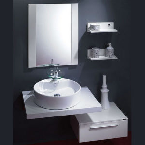 Oppein Hot Sale Snow White Painted Bathroom Vanity (OP11-P154-IIX) pictures & photos