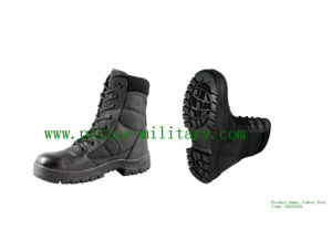 Military Tactical Combat Boots Black Leather Shoes CB303025 pictures & photos