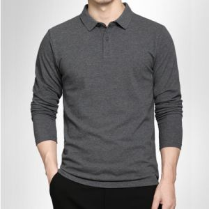 Stylish Golf Pique Long Sleeve Casual Polo Shirts pictures & photos