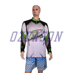 Cusotm UV Protection Men′s Fishing Shirts with Zipper Collar (F007) pictures & photos