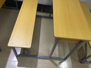 Wooden School Double Desk for Student Sf-34D pictures & photos