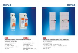 Sontune Adjustable MCB 2 Pole Earth Leakage Circuit Breaker pictures & photos
