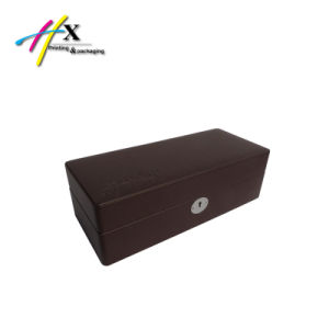 New Product Luxury Leather Wooden Watch Box with 5 Slots pictures & photos