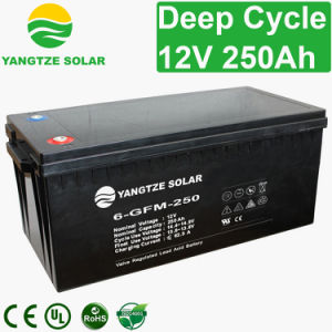 AGM Deep Cycle 12V 250ah Solar Battery pictures & photos