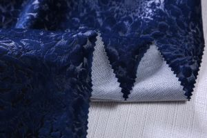 Floral Burnout and Print Velvet Sofa Fabric pictures & photos