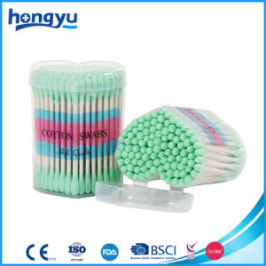 3′′ Length Gift Paper Stick Cotton Swabs in Small Heart PP Box pictures & photos