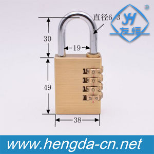 High Quality 4 Digits Solid Brass Combination Padlock (YH1232) pictures & photos