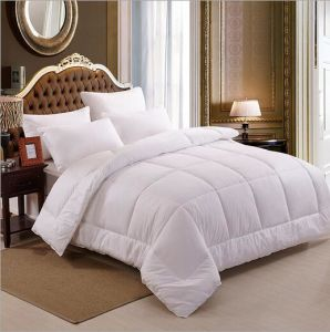 Single Size Cotton Breathable Down Duvet Comforter  for Hotel with White Duck Down pictures & photos