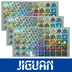 Holographic Lamination Sheets Silver Foil Labels pictures & photos