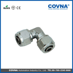 Klv Series Union Elbow Brass Connector Pneumatic Fittings pictures & photos
