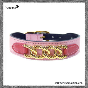 Luxury Chain Deco Leather Dog Collar (SPC343-1) pictures & photos
