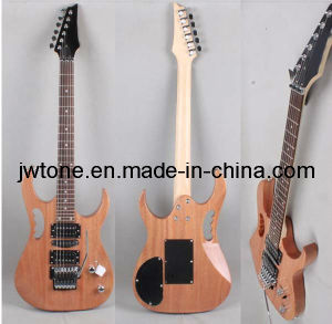 Natural Mahogany Body Quality Electric Guitar pictures & photos