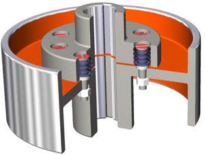 Flexible Coupling Elastic Pin Coupling with Brake Wheel pictures & photos