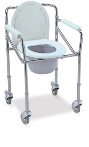 """Commode Chair with 3"""" Castor and 2 with Brake (SC-CW01(S)) pictures & photos"""