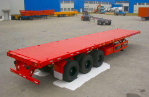 3 Axle 50 Ton Flatbed Containe Semi Trailer pictures & photos