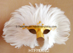 Personal Decoration Party Turkey/Ostrich Feather Mask pictures & photos