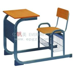 China School Furniture Classroom Single Desk and Chair (SF-71F) pictures & photos