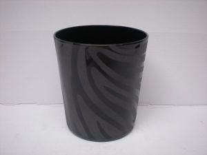Solid Black Color Sandblasted Whiskey Glass (B-067) pictures & photos