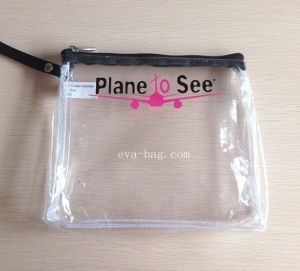 Sewn Clear PVC Printing Travel Cosmetic Bag in Flight pictures & photos