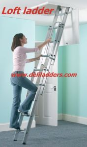 Loft Ladder with Handrail Manufactured to En 14975 (DLL304) pictures & photos