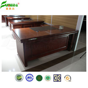 MDF High Quality Office Table with PU Cover pictures & photos