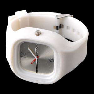 White Digital Silicone Watch pictures & photos