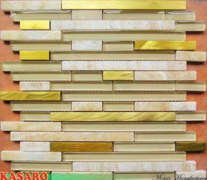 yellow onyx stone and crystal glass mosaic backsplash tile ksl6610