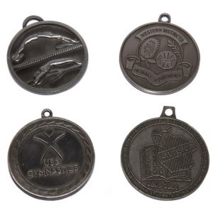 Custom Multi-Design Zinc Alloy Event Medals - Lanyard Available / Antique Pewter Plated pictures & photos