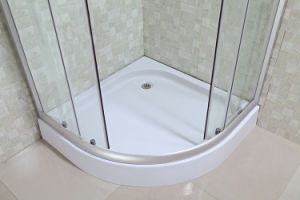 Cheap Corner Shower Cabin with Printed Glass Door (LTS-825) pictures & photos