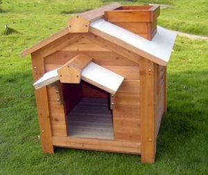 Dog Houses Cat Kennel Wooden Log Cabin Wood Pet House