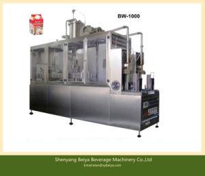 Uht Milk Semi Automatic Box Filling Sealing Machine pictures & photos