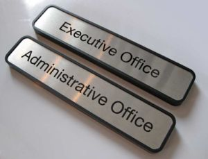 Metal name plates for office doors (ASNY-JL-ML-12121101) pictures & photos