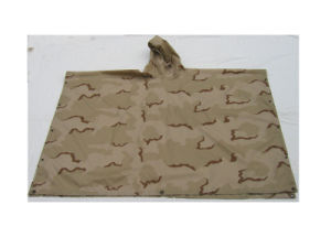 Army Desert Camouflage Waterproof Single Poncho with Hood pictures & photos