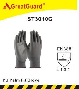 Lite Flex PU Palm Glove (ST3010G, CE Certificated) pictures & photos