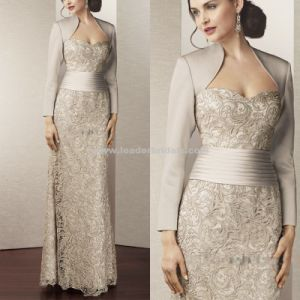2017 Mother of The Bride Gown Full Sleeves Lace Evening Dress Y112 pictures & photos