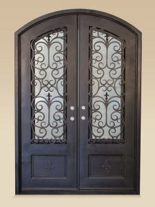 Contemporary Wrought Iron Entry Doors Designs pictures & photos