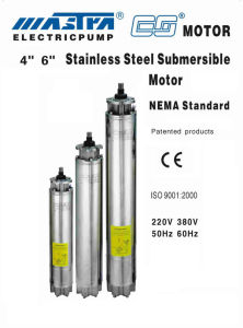 Submersible Motor Stainless Steel 4′′ 6′′ pictures & photos
