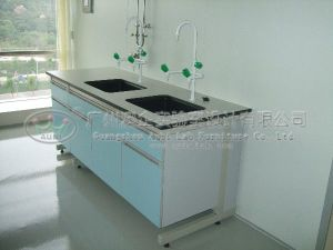 Customized Washing Table with Steel Frame and Wood Body