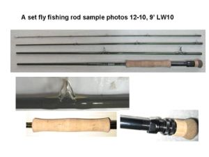 A Set Fly Fishing Rods 12-10, 9′ Lw #10