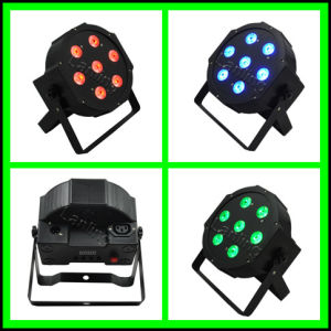 7 X 10W RGB Flat LED PAR Light Stage Light pictures & photos