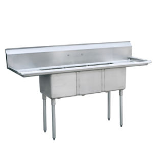 Three Compartment Sink With Left / Right Drainboard