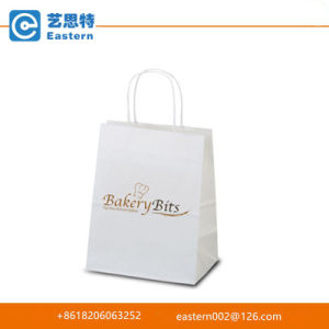Custom Chirstmas Recyclable White Paper Gift Bag with Logo Printing